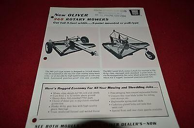 Oliver Tractor 960 Rotary Mower Dealer's Brochure DCPA
