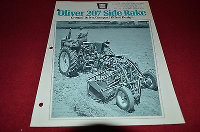 Oliver Tractor 207 Side Rake Dealer's Brochure DCPA