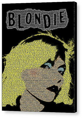 Blondie Rapture Song Lyrics Mosaic AMAZING Framed 9X11 Limited Edition Art w/COA