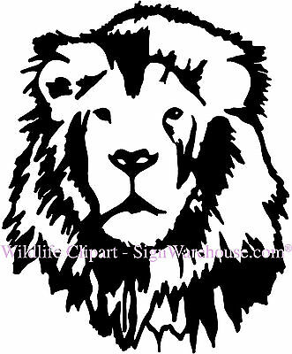 Lion Mane King of Jungle Safari Zoo Vinyl Wall Art Decor Stickers Decal Wildlife