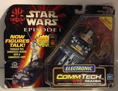 Electronic Comm Tech Reader New In Package Hasbro Star Wars Episode One 90s Toy
