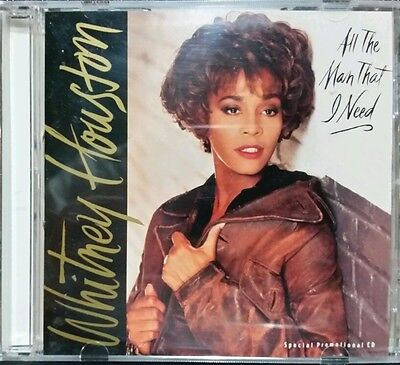 VERY RARE Whitney Houston All The Man That I Need Promo CD & XTRA I LOOK TO YOU!