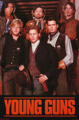 Poster: Movie Repro: Young Guns - All 6 Posed  - Free Shipping ! #143    Rc21 T