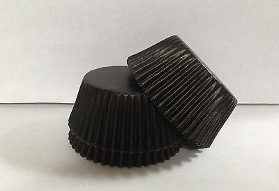 Grease-resistant Black standard size cupcake liners/baking cups