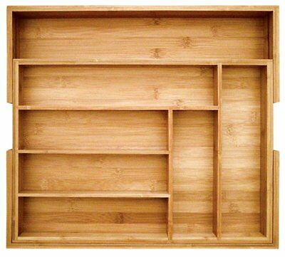 New 2day shipping Totally Bamboo Expandable Utility Drawer Organizer