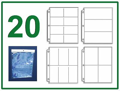 20 Sleeve Variety Pack 4 Coupon Binder Organizer - 5 Each 8 6 4 3 Pocket Pages