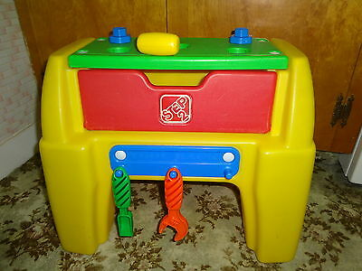 Hard To Find STEP 2 Toddler Workbench Toolbox Combo With Some Accessories