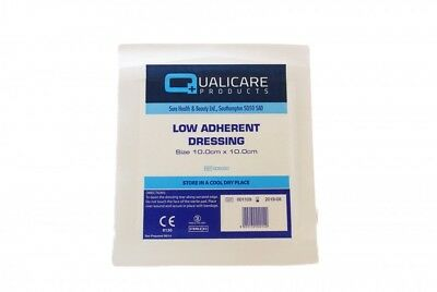 Double Sided Low Non Adherent Dressing Pads- 10Cm X 10Cm - X 5 Pads - Wounds