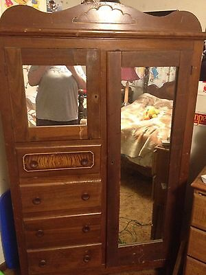 Antique Bedroom Furniture Bed Frame, Armoire And Vanity