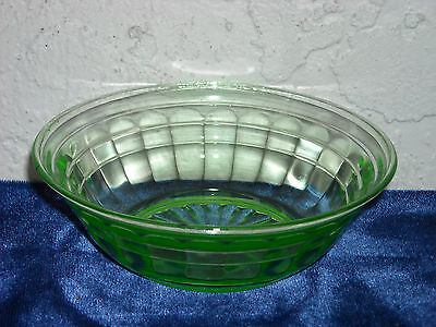 Block Optic Berry Bowl As Is  Green