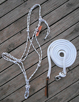 PROFESSIONALLY MADE ROPE HALTER and 10ft LEAD - TRAINERS SIGNATURE SET