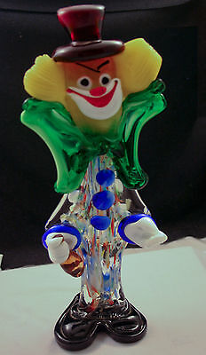 Murano Art Glass Clown Italian 16 inches tall