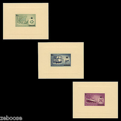 Ghana 1957 (Proofs) Black Star Shipping Line