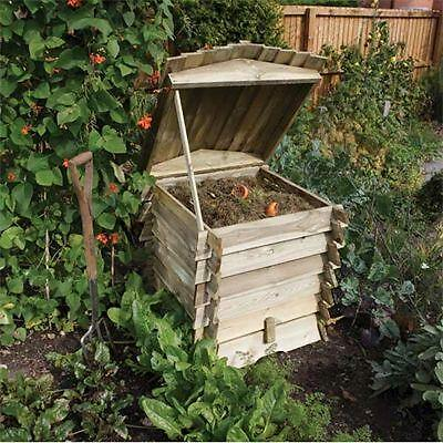 Rowlinson 440 Litre Beehive Composter Wood Compost Maker Bin Pressure Treated