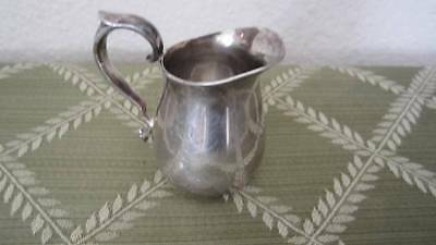 """Reed & Barton 964 Mini Pitcher – 3"""" Etched L.B. Great for Cream for the Coffee"""