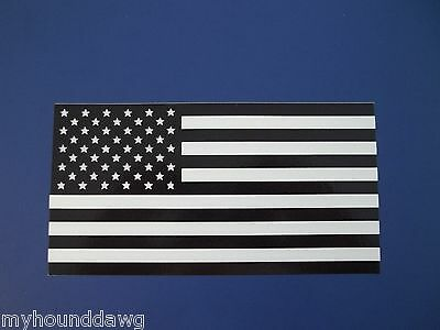 "Black and White American USA Flag Decal, 6.0"" Free Shipping"
