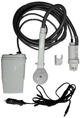 CORDLESS RECHARGEABLE ELECTRIC CAMPING SHOWER with HEAVY DUTY BATTERY