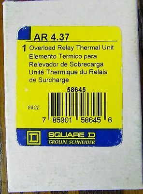 SQUARE D AR 4 37 Thermal Overload Relay Heater Element AR 4.37