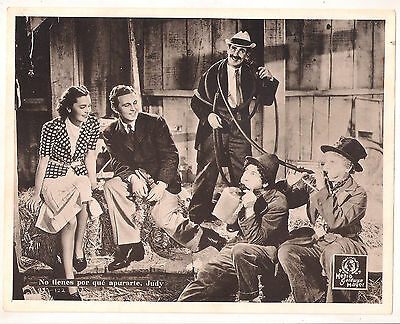 F10496 A DAY AT THE RACES MARX BROTHERS MAUREEN O'SULLIVAN MGM Lobby Card Sp A