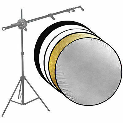 "43"" 5in1 PhotoStudio 110CM Photography Collapsible Disc Panel Reflector US SELLE"