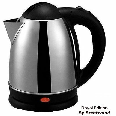 1.7 Liter Electric Portable Hot Water Stainless Steel TEA KETTLE Cordless