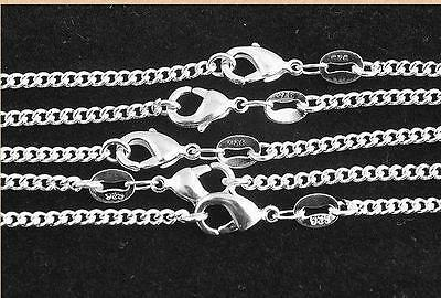 Wholesale lots 5pcs 925 Sterling Silver Rolo Curb Chain Necklace 16-30 inch