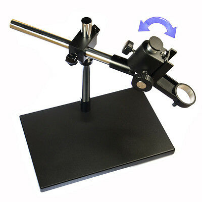 4kg Heavy Duty Dual-Arm Metal Boom Stereo Microscope Table Stand Holder Ring50cm