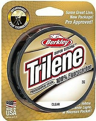 Berkley Trilene Fluorocarbon Carp Coarse Sea Fishing Line 200yd