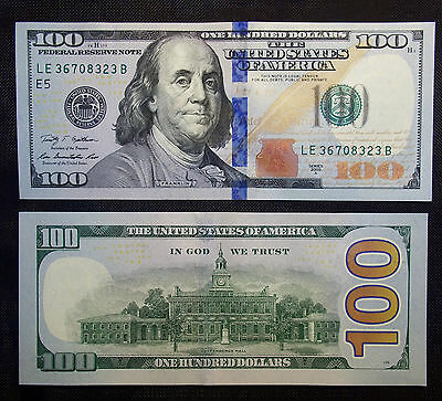 BRAND NEW   $100.OO NOTE/BILL   SAME DAY SHIP