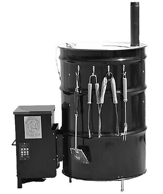 55 Gallon drum UDS Smoker kit With a 35 Lb Hopper assembly W/PID Controller