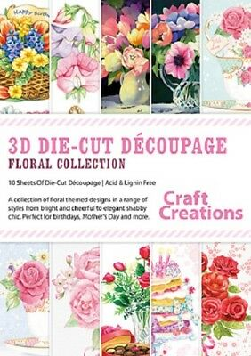 Craft Creations Floral Collection Collection 3D Die-Cut Decoupage PK762