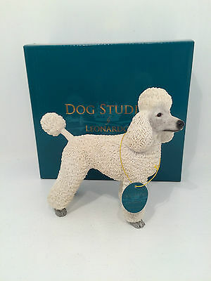 Dog Studies by Leonardo White Poodle Figurine Ornament *BRAND NEW BOXED*