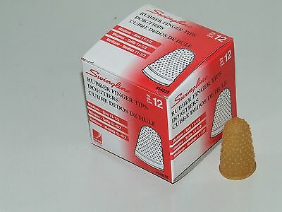 Rubber Finger Tips (Thimbles), Size-11.5 (Medium), Quantity=12