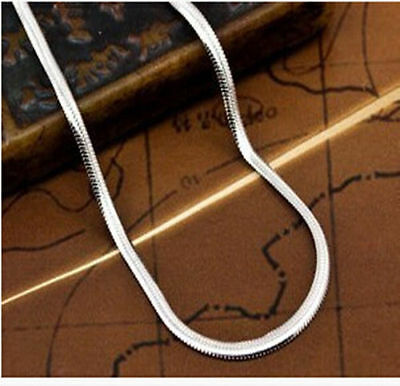 "Wholesale lots 5pcs 925 Sterling Silver 2mm Flat Snake chain Necklace 16""-30"""