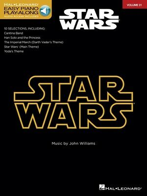 Star Wars Easy Piano Play Along Music Book & Online Audio - Volume 31