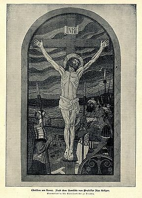 Christus am Kreuz Glasmosaik in der Garnisonskirche in Dresden Bilddokument 1900