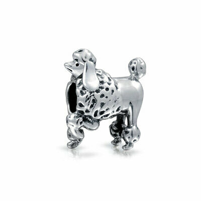 Bling Jewelry 925 Sterling Silver Poodle Show Dog Charm Animal Bead