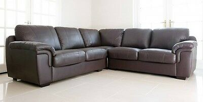 huge sale new amy faux leather corner sofa in black brown or cream so cheap !