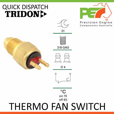 Genuine * TRIDON * Universal Thermo Fan Switch - 70C ON   65C OFF, 3/8 GAS