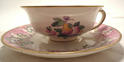 Booths Silicon China Made In  England  Vauxhall  Pattern Cup & Saucer Fruit