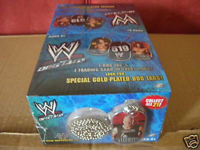 Wwe Wrestling Legends Dog Tags Sealed Box 24 Packs New Very Rare Genuine Topps