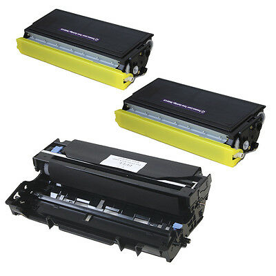 2PK TN460 Toner 1PK DR400 Drum For Brother HL FAX INTERFAX PPF DCP Series