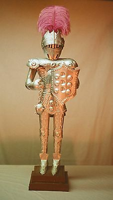 KNIGHT STATUE - All Tin - Vintage Hand Made - All Metal
