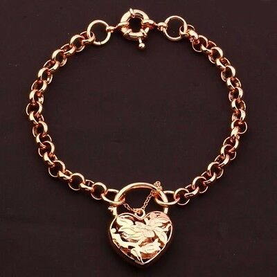"9K 9ct Rose ""Gold Filled"" Belcher Chain Bangle Bracelet. Various Lengths ""Gift"""