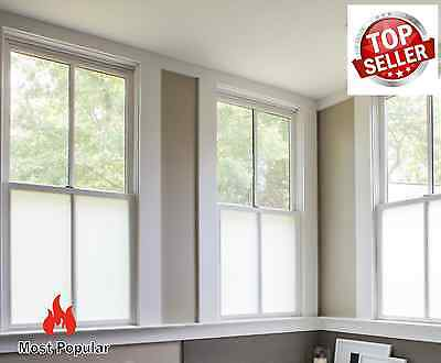 Privacy Bubble Free Frosted Window Film Etched Glass Sticky Back Plastic Vinyl