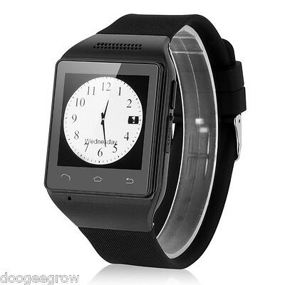 Unlocked Touch Screen Smart Wrist Watch Cell Phone SIM Bluetooth GSM GPRS Black