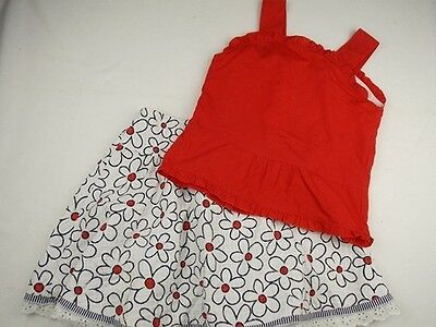 10y fits 8y QUIMPER girls summer designer skirt & red top outfit - worn once