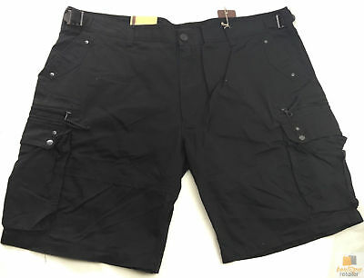 Deluxe PLUS SIZE CARGO SHORTS Heavy Duty Big Sizes Summer 100% COTTON Drill New