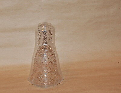 Antique French Acid Etched Arabesque Scroll Decorated Carafe & Glass