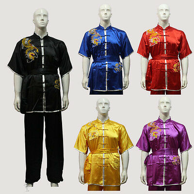 Embroidered dragon Kung fu Taichi Martial arts Performance Competition Uniforms